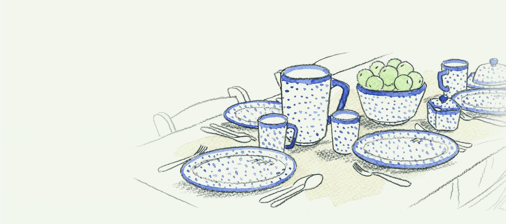 ceramika na stole