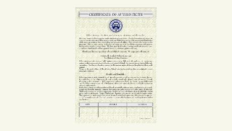 Certyfikat autentyczności