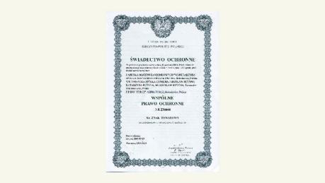 Bolesławiec Pottery Trademark Certificate