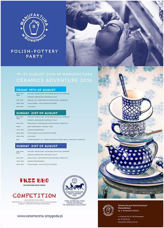 invitation 2016 - Polish-pottery Party 2016
